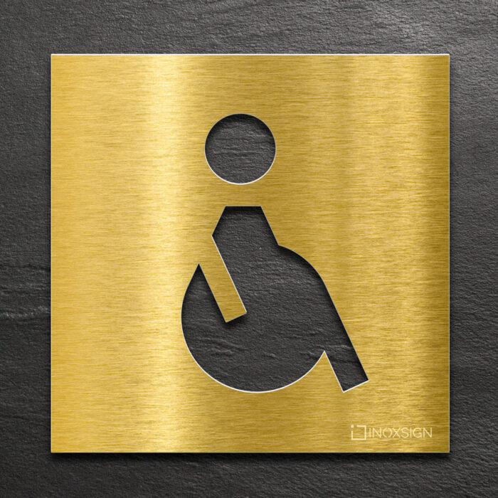 """Messing WC-Schild """"Rollstuhlfahrer"""" / B.01.M 1"""