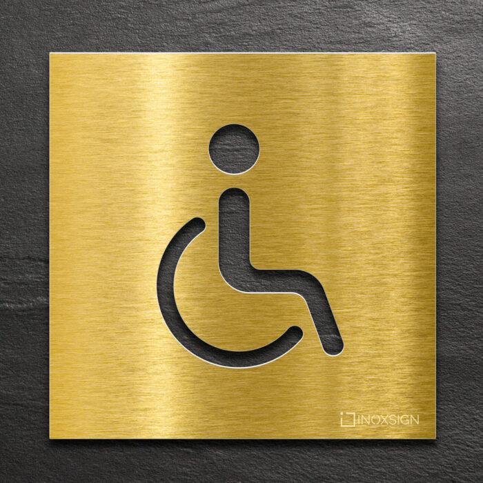"""Messing WC-Schild """"Rollstuhlfahrer"""" / B.06.M 1"""