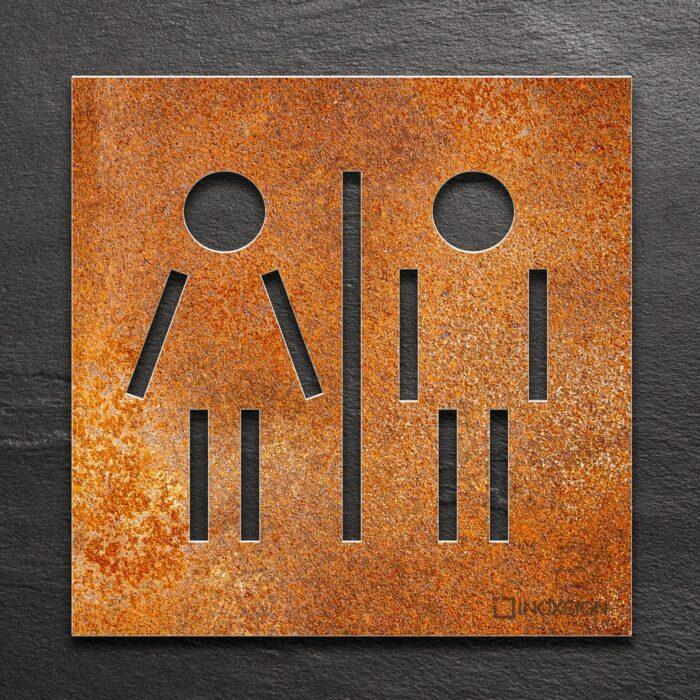 """Vintage WC-Schild """"Unisex"""" / C.05.R 1"""