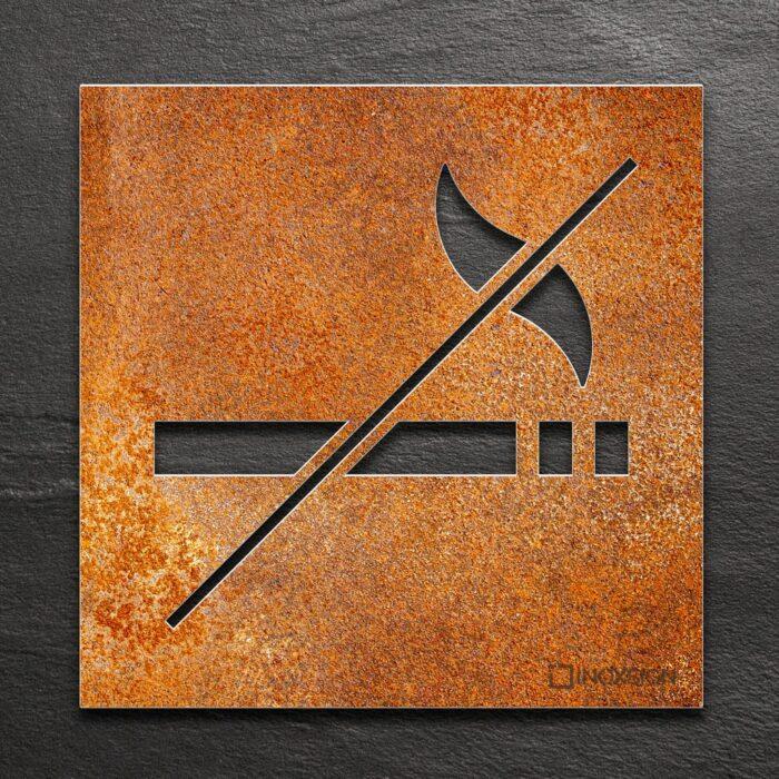 Vintage Hinweis-Schild Raucherverbot - selbstklebendes Retro Verbotsschild Rauchen verboten - Piktogramm und Türschild von INOXSIGN