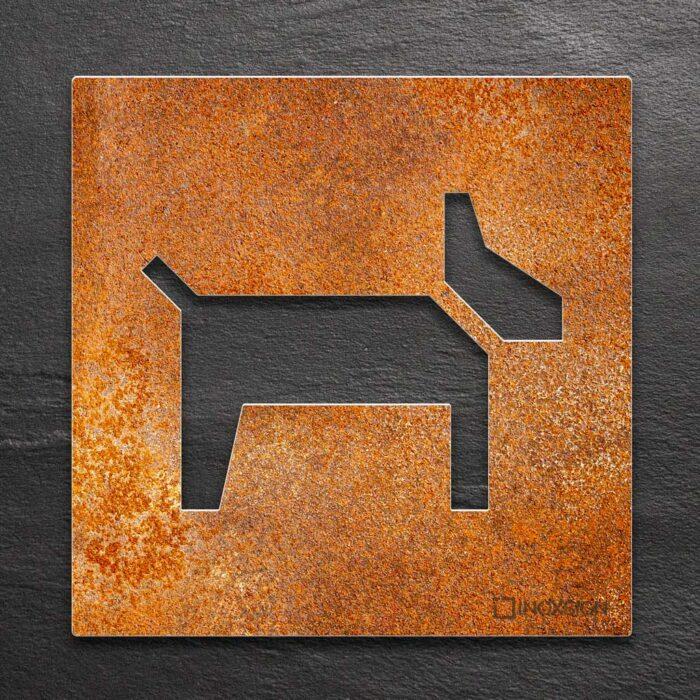 """Vintage Hinweisschild """"Hunde erlaubt"""" / H.25.R 1"""