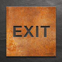 Vintage Hinweis-Schild EXIT - selbstklebendes Retro Türschild - Piktogramm von INOXSIGN