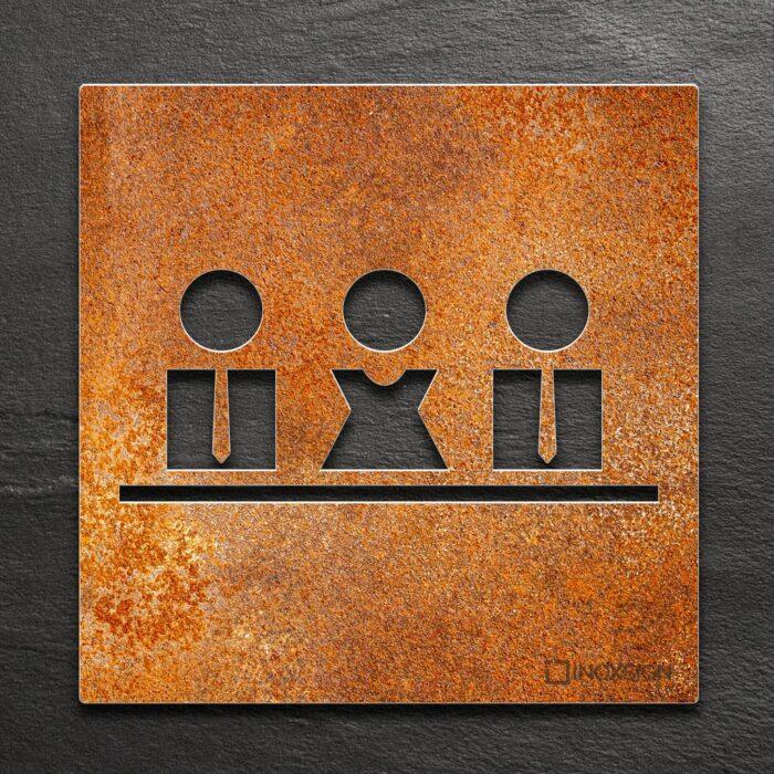 """Vintage Schild """"Besprechungsraum"""" / M.01.R 1"""
