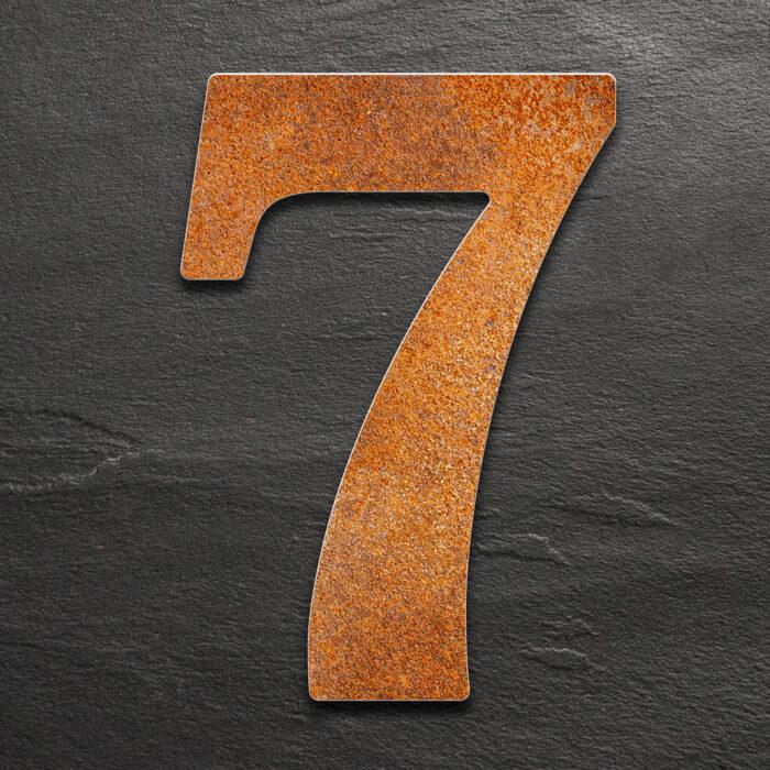 """Vintage Hausnummer 7 """"Classic"""" / N.27.R 1"""