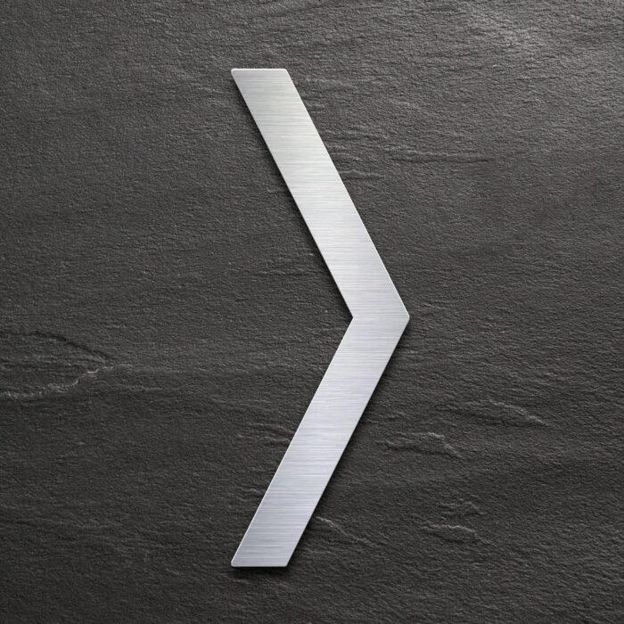 Edelstahl Pfeil Schild - selbstklebendes Hinweis-Schild - Piktogramm von INOXSIGN