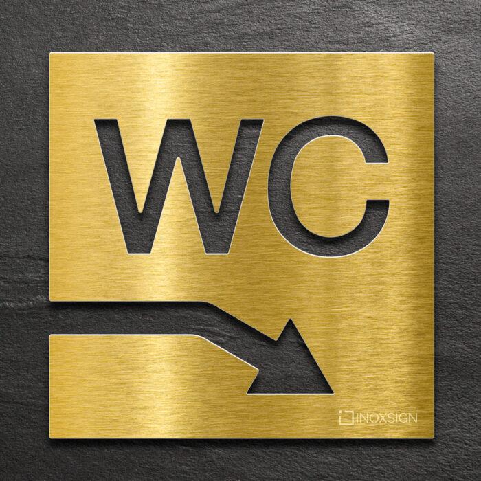 "Messing WC-Schild ""rechts unten"" / W.04.M 1"