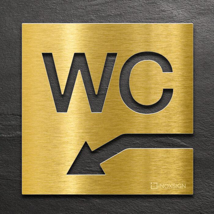 "Messing WC-Schild ""links unten"" / W.05.M 1"