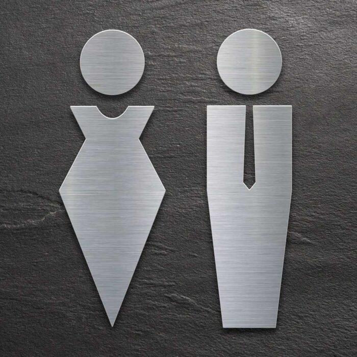"Edelstahl WC-Schilder Set ""Damen & Herren"" / ST.01.E 1"