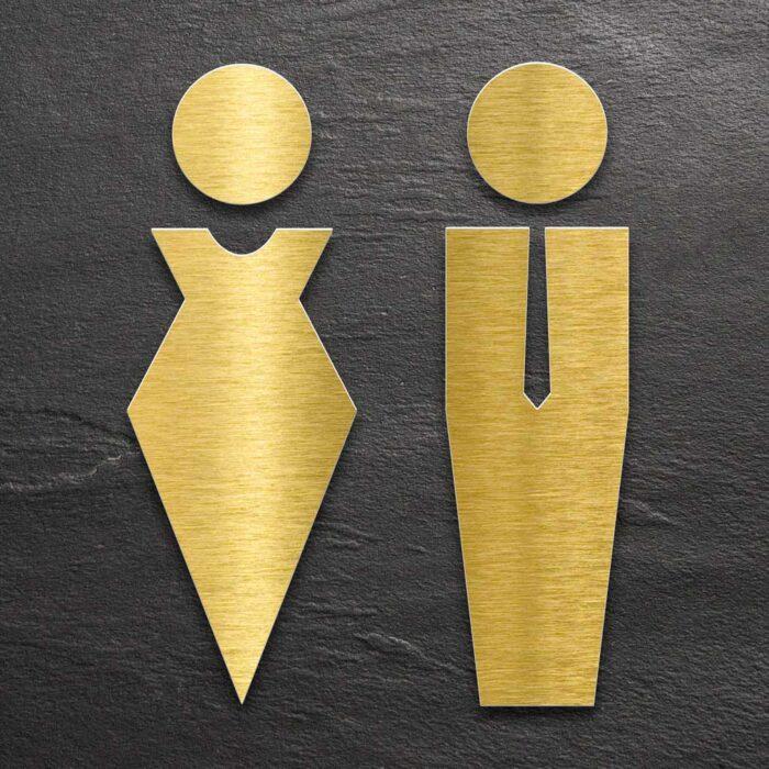 "Messing WC-Piktogramme Set ""Damen & Herren"" / ST.01.M 1"