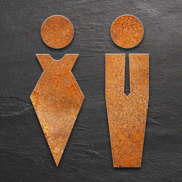 """Vintage WC-Piktogramme Set """"Damen & Herren"""" / ST.01.R 1"""