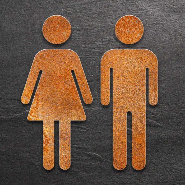 """Vintage WC-Piktogramme Set """"Damen & Herren"""" / ST.06.R 1"""