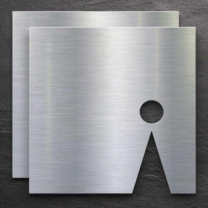 """Edelstahl WC-Schilder Set """"Damen & Herren"""" / T.03.E 1"""