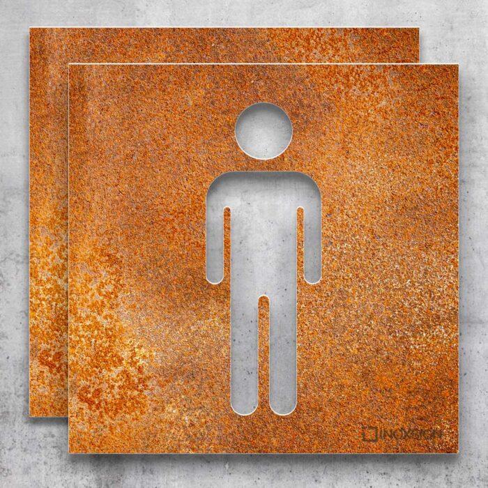 """Vintage WC-Schilder Set """"Damen & Herren"""" / T.06.R 2"""