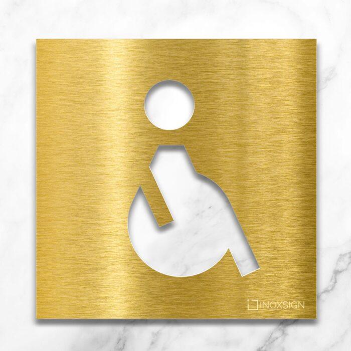 """Messing WC-Schild """"Rollstuhlfahrer"""" / B.01.M 2"""