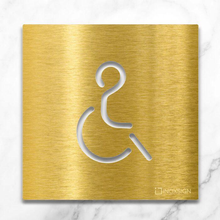 """Messing WC-Schild """"Rollstuhlfahrer"""" / B.02.M 2"""