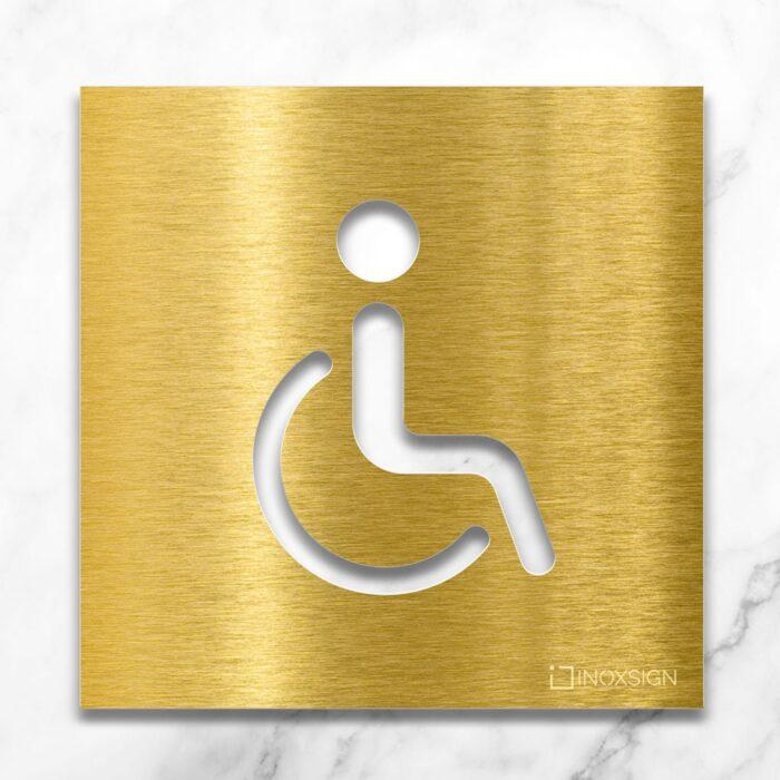 """Messing WC-Schild """"Rollstuhlfahrer"""" / B.06.M 2"""