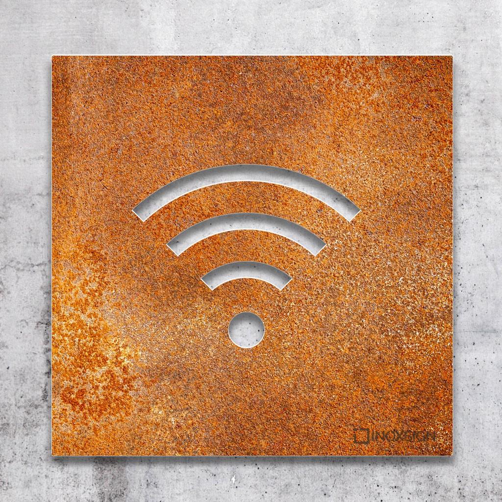 Restaurant Outdoor Schild Pub Metallschild Oti34fgtephe Free WiFi Metallschild Vintage Stil WiFi Schild Personalisierte Information Schild f/ür Bar