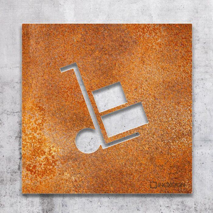 Vintage Hinweis-Schild Lager - selbstklebendes Retro Türschild - Piktogramm von INOXSIGN
