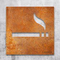 Vintage Hinweis-Schild Raucherbereich - selbstklebendes Retro Türschild Rauchen erlaubt - Piktogramm von INOXSIGN