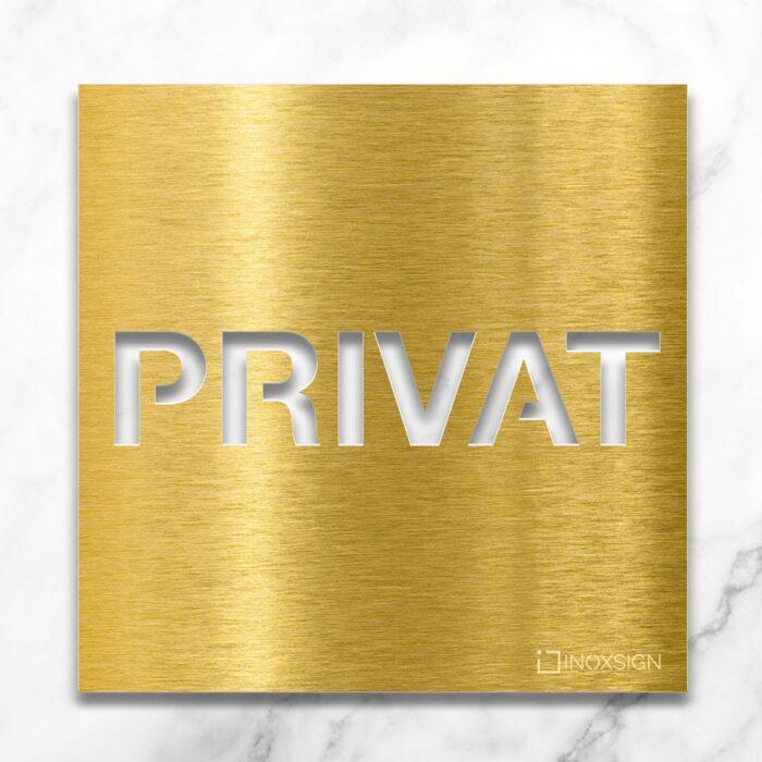 """Messing Hinweisschild """"Privat"""" / H.62.M 1"""