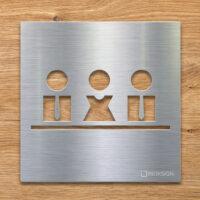 Edelstahl Hinweis-Schild für Meeting-Raum - selbstklebendes Türschild Besprechungsraum- Piktogramm von INOXSIGN