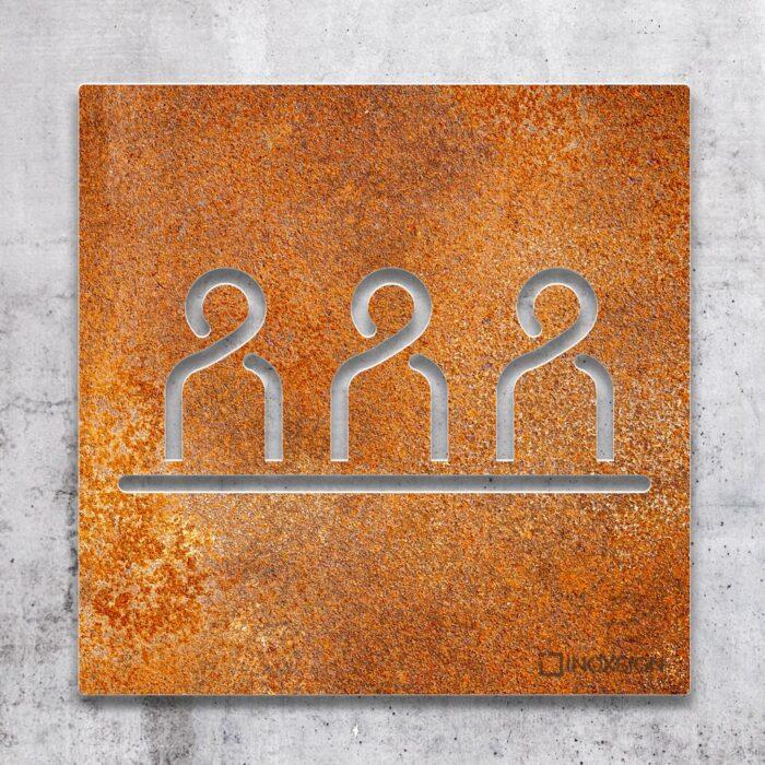 """Vintage Schild """"Besprechungsraum"""" / M.02.R 2"""