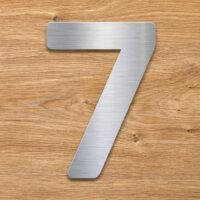 Edelstahl Hausnummer 7 von INOXSIGN - Design Hausnummernschild modern - wetterfest und rostfrei