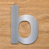 Edelstahl Hausnummer b von INOXSIGN - Design Hausnummernschild modern - wetterfest und rostfrei