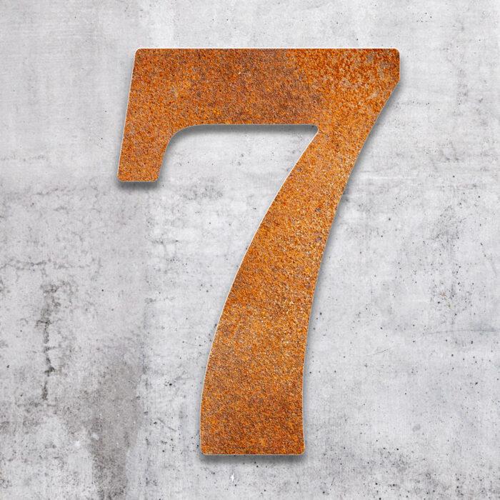 """Vintage Hausnummer 7 """"Classic"""" / N.27.R 2"""