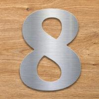 Edelstahl Hausnummer 8 von INOXSIGN - Design Hausnummernschild modern - wetterfest und rostfrei