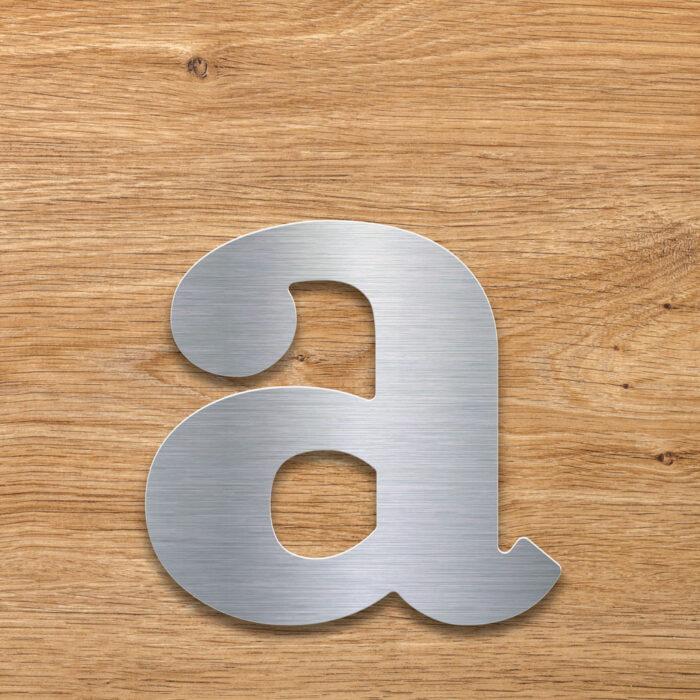 Edelstahl Hausnummer a von INOXSIGN - Design Hausnummernschild modern - wetterfest und rostfrei
