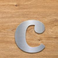 Edelstahl Hausnummer c von INOXSIGN - Design Hausnummernschild modern - wetterfest und rostfrei