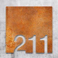 Vintage Zimmernummer - selbstklebende Retro Raumnummer für Hotel oder Praxis von INOXSIGN