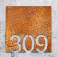 Vintage Zimmernummer - selbstklebende Retro Raumnummer für Hotel oder Praxis von INOXSIGNVintage Zimmernummer - selbstklebende Retro Raumnummer für Hotel oder Praxis von INOXSIGN