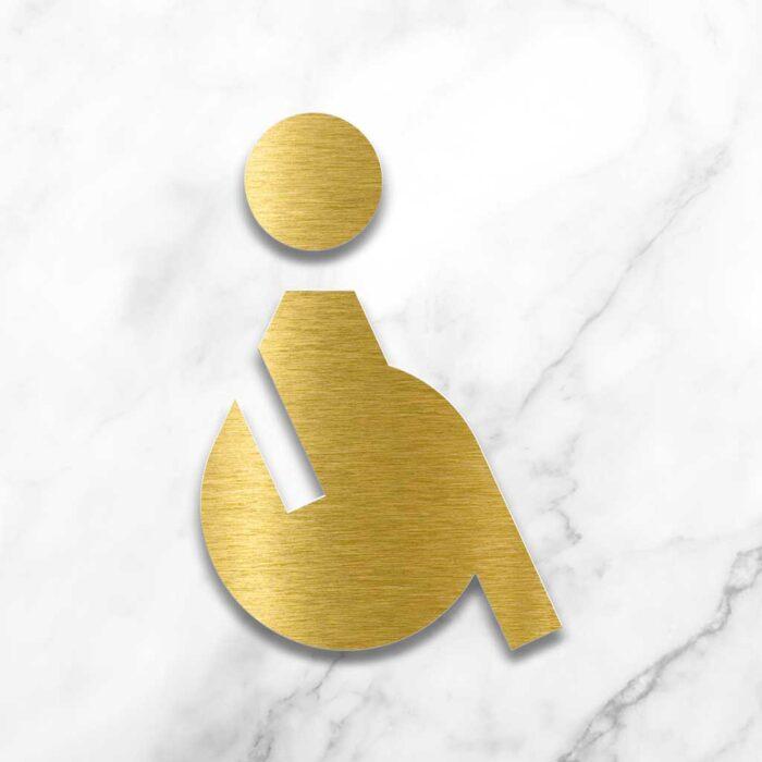 "Messing WC-Schild ""Rollstuhlfahrer"" / SB.01.M 2"