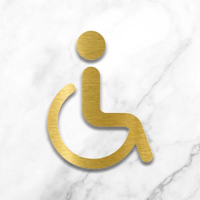 "Messing WC-Schild ""Rollstuhlfahrer"" / SB.06.M 2"
