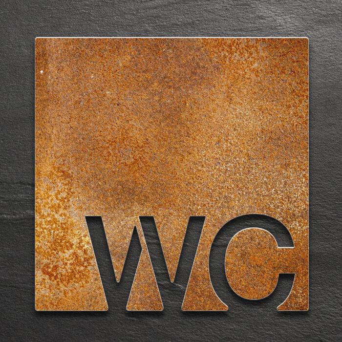 Vintage WC-Schild / W.10.R 1