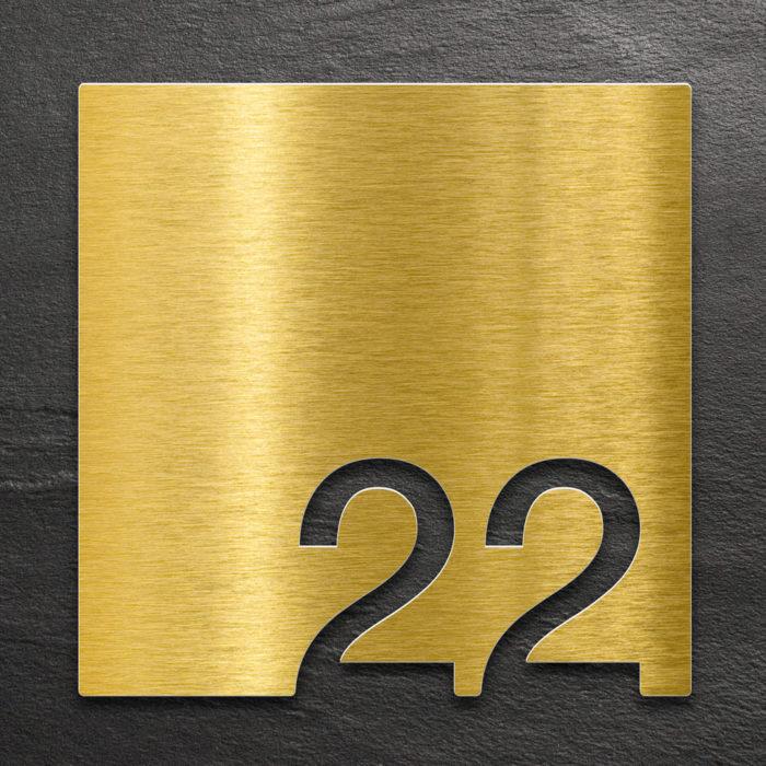 Messing Zimmernummer 22 / Z.03.022.M 1