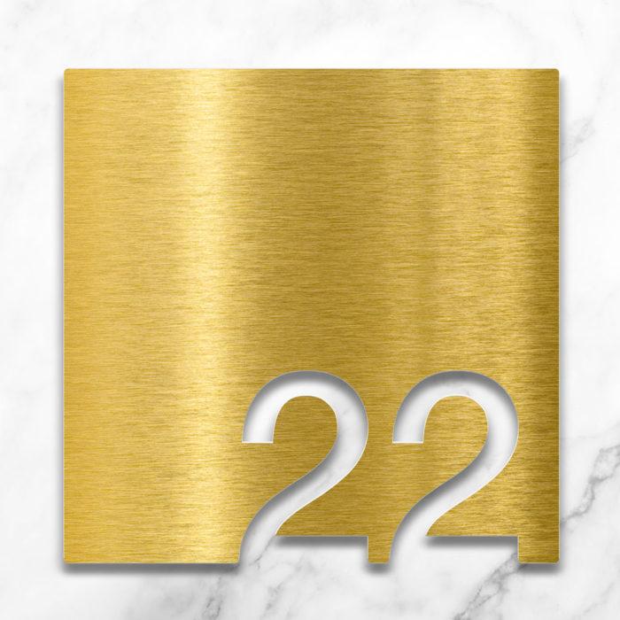Messing Zimmernummer 22 / Z.03.022.M 2
