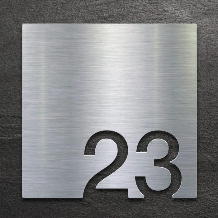 Edelstahl Zimmernummer 23 / Z.03.023.E 1