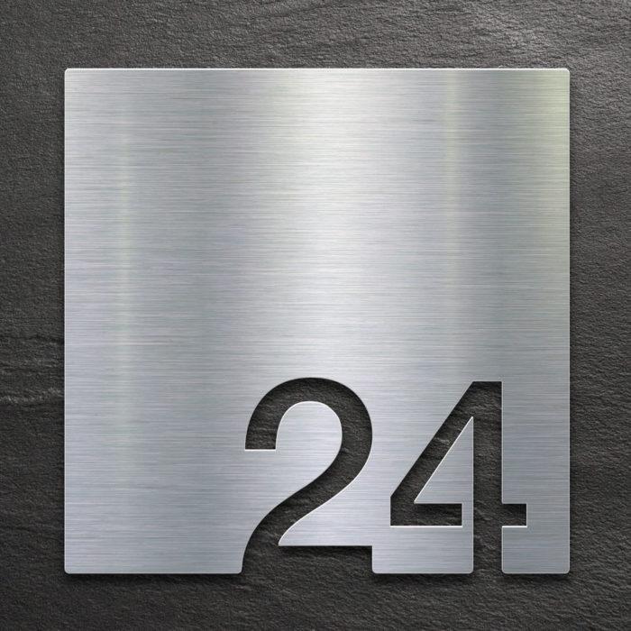 Edelstahl Zimmernummer 24 / Z.03.024.E 1