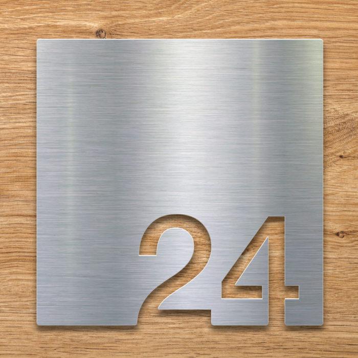 Edelstahl Zimmernummer 24 / Z.03.024.E 2