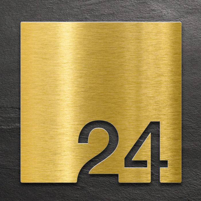 Messing Zimmernummer 24 / Z.03.024.M 1