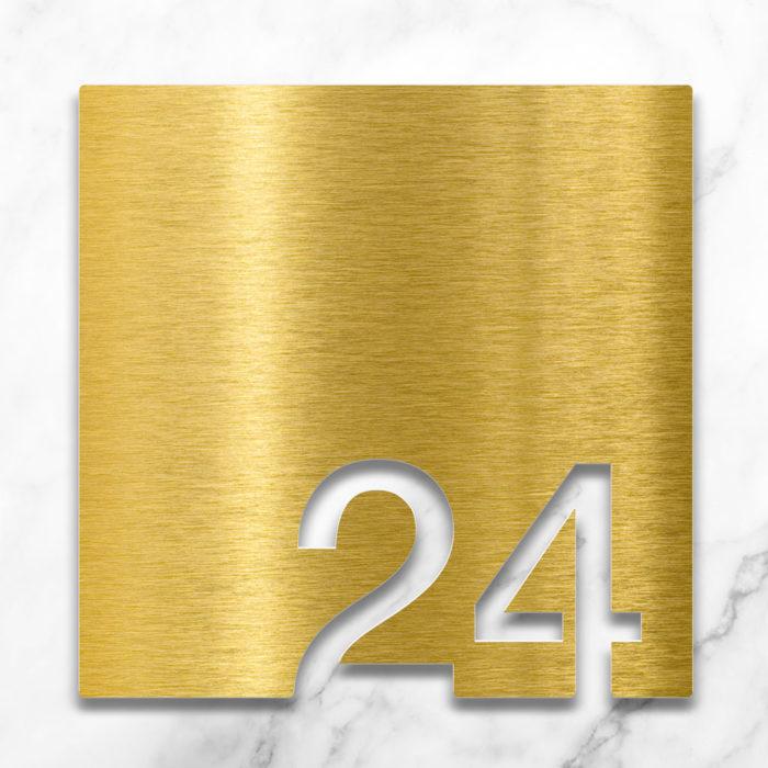Messing Zimmernummer 24 / Z.03.024.M 2