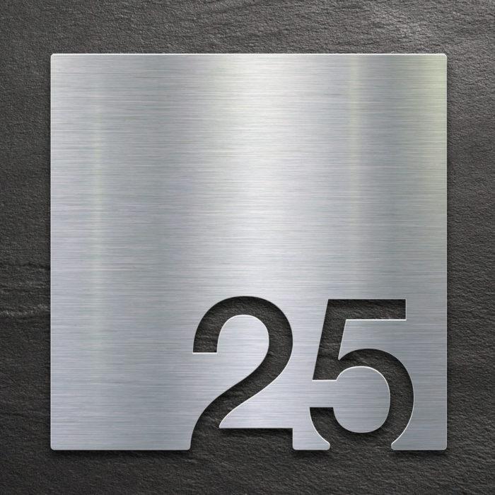 Edelstahl Zimmernummer 25 / Z.03.025.E 1
