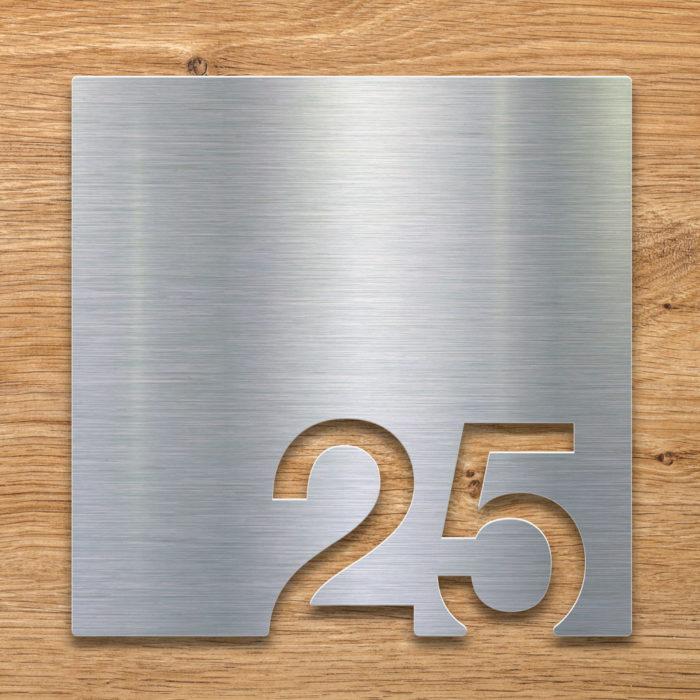 Edelstahl Zimmernummer 25 / Z.03.025.E 2