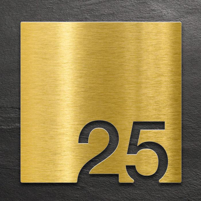Messing Zimmernummer 25 / Z.03.025.M 1