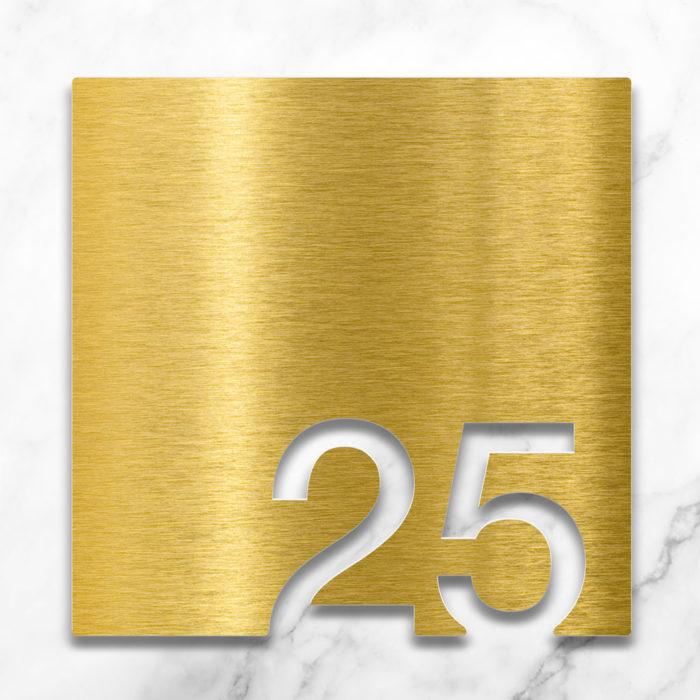Messing Zimmernummer 25 / Z.03.025.M 2