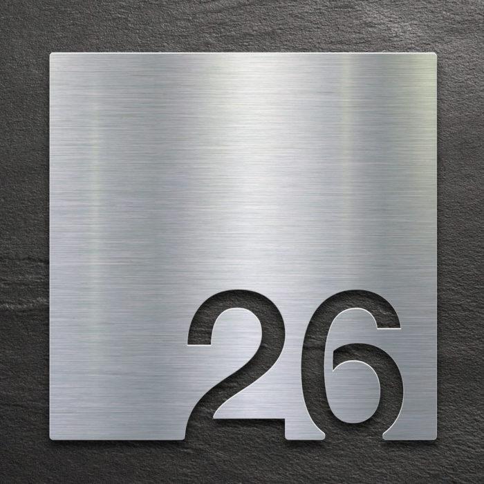 Edelstahl Zimmernummer 26 / Z.03.026.E 1