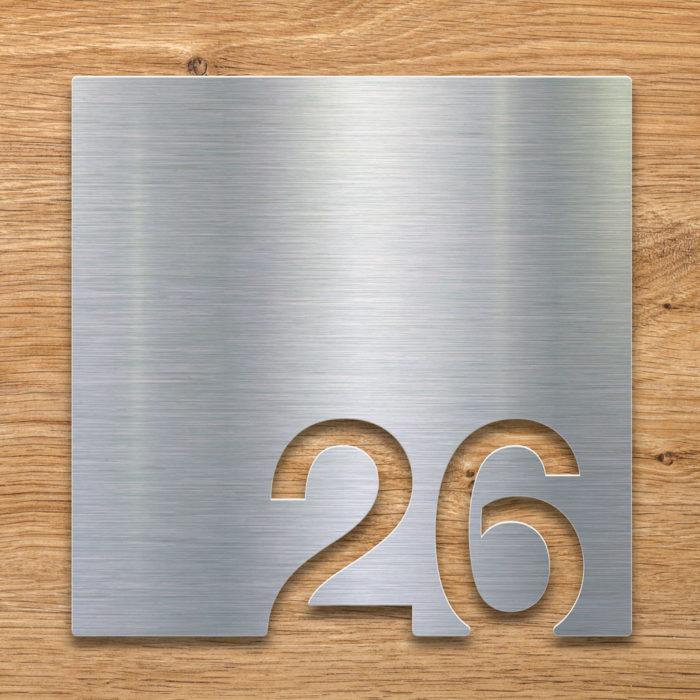 Edelstahl Zimmernummer 26 / Z.03.026.E 2